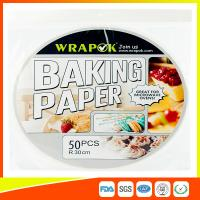 Best Round Silicone Baking Paper Sheets , Greaseproof Non Stick Paper For Baking wholesale