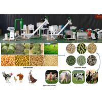 Best 2 - 12mm Pellet Size Animal Feed Processing Equipment For Small Feed Factory wholesale