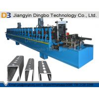 Best Panasonic PLC Control Strut Channel Metal Roll Forming Machine With Hydraulic Cutting Device wholesale
