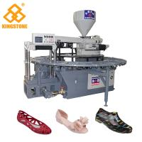 Best 20 Stations Automatic Plastic Sandals Making Machine , Rotary PVC  Shoes Injection Molding Machine wholesale