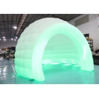 Best Colorful LED Light Giant Inflatable Igloo Dome Tent With Tunnel Entrance wholesale