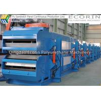 Quality Double Paper Surface Sandwich Panel Making Machine 1200mm Width PU Injection wholesale