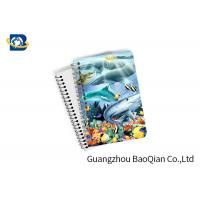 Best Eco Friendly Paper 3D Lenticular Notebook Ocean / Animal Pattern With Spiral wholesale
