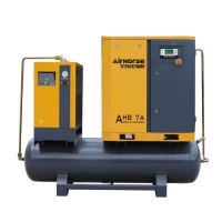 Best 5.5KW/7HP Integrated tank and air dryer mounted screw air compressor for industrial equipment wholesale