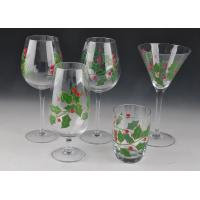 Best Colorful Decorated Hand Painted Glass Stemware For Martini Wine wholesale