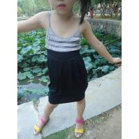 Best Classy Summer Lovely Girls Pleated Dress , Black Girls Spaghetti Strap Dress wholesale
