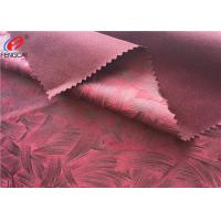 China Warp Knitting Embossed Bronzing Suede Sofa Fabric 100 % Eco Friendly Polyester on sale