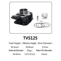 Best Indian Model TVS 125 Motorcycle Big Bore Cylinder Kits With Anti Corrosion wholesale