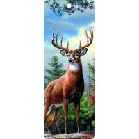 Best Cute Reindeer 5.6x15.3cm Size 3D Lenticular Bookmark With Colorful Tassel wholesale
