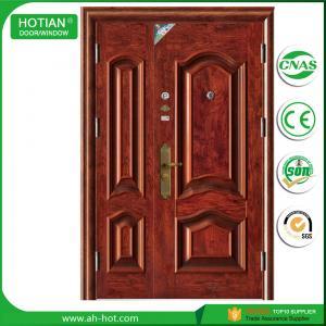 Best single double steel safety door, iron indian main door designs wholesale