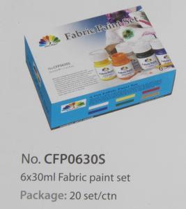 Best Washable Art Painting Colours Fabric Paint Set For Kids 6 X 30ml 6 Colors Per Set wholesale