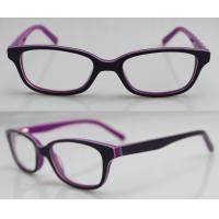 Best Purple / Orange Hand Made Kids Eyeglasses Frames , Eye Spectacles Frames wholesale