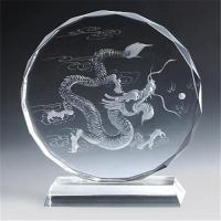 Cheap Supply laser crystal trophy for sale