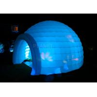 Best Led Lighting Inflatable Igloo Tent , Oxford Cloth Inflatable Tents For Parties wholesale