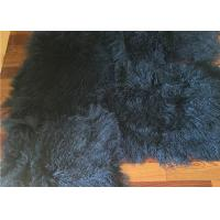 2 *4' Navy Blue Mongolian Fur Throw Blanket , Large Sofa Throws Anti Wrinkle