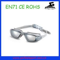 Best Custom competition swimming goggles in smoke lens , triathlon swimming goggles wholesale