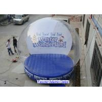 Cheap Winter Wonderland Inflatable Snow Globe Large Diameter For Huge Containing Spaces for sale
