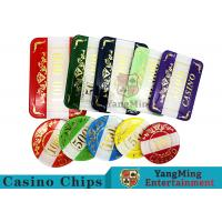 Best Casino Style Numbered Poker Chip Set Bright Color With Customized Print Logo wholesale