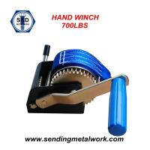 Quality 700lbs Hand Winch Brake Winch Trailer Winch Manual Hand Winch 700lbs Powder Coat wholesale