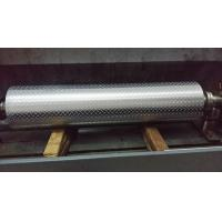 Cheap Non - Ferrous Metal / Leatheroid / Leather Embossing Rolls , Knurled Rollers for sale