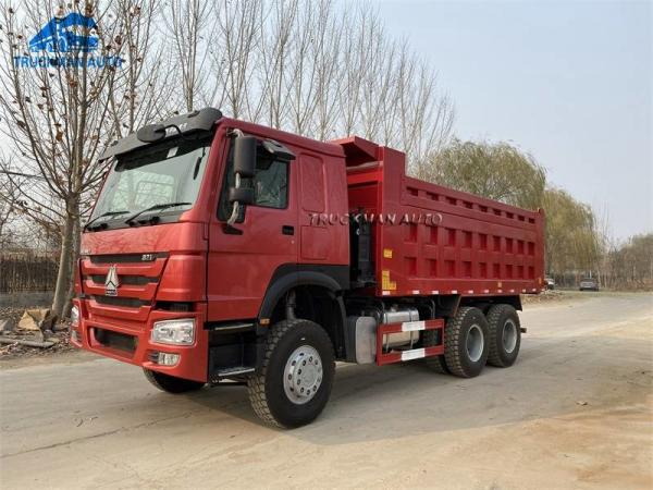 Cheap 371HP 18m3 Cargo Box Used SINOTRUK Tipper Truck For South Sudan for sale