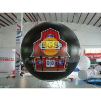 Best Black Waterproof inflatable advertising helium balloons with UV protected printing wholesale