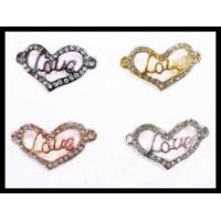 Best 16 * 30mm Purple / Gold / Red Crystal Heart Charms Fine Jewelry Findings Making wholesale