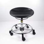 Best Black Polyurethane Ergonomic Laboratory Stools , Durable Rotatable Office Chair wholesale