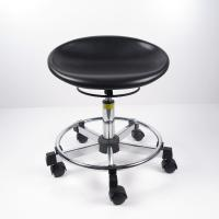 Best Black Polyurethane Ergonomic Laboratory Stools , Durable Rotatable Office Chair wholesale