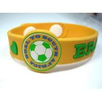 Best Custom Brazil World Cup Sports Silicone Bracelets , Soccer Silicone Bracelets wholesale
