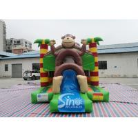 Buy cheap Outdoor kids commercial jungle monkey inflatable combo in monkey theme park for from wholesalers