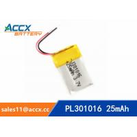 Best 301016pl 25mA 3.7V small size lithium polymer battery with 25mAh for wearable products wholesale