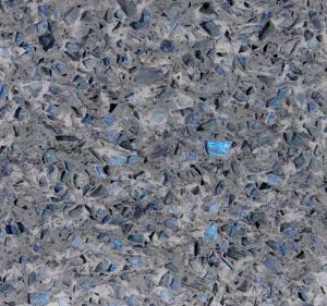 Best Stone Cutting Artificial Quartz Jewelry Blue Abrasion Resistance Quartz Stone Slab wholesale