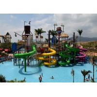 Buy cheap Fun Aqua Playground / Amusement Park Slide With Spray / Water Curtain from wholesalers