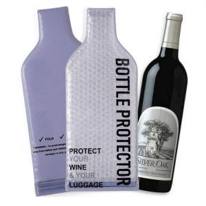 Best Leak Proof PVC Plastic Bubble Wrap Wine Bags , Reusable Wine Bottle Protector wholesale
