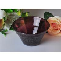 Best OEM 472ml Capacity Bubble Glass Bowl For Scented Candle , Mouth Blown wholesale