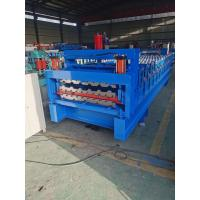 Best Fast Motor Double Layer 5.5kw Tile Sheet Roll Forming Machine wholesale