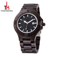 Best Black Mens Watch Wood Face All Made Out Of Wood Miyota Movement wholesale