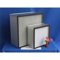 Quality H13 Fiberglass Paper Separator HEPA Furnace Filter For Clean Room 610 * 610 * 150 mm wholesale