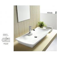 Best above counter round shape art basin with single faucet hole sink basin wholesale