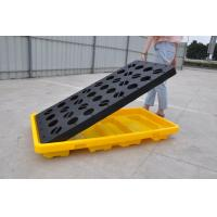 Best Polyethylene Spill Containment Pallets With Drains For Oil Drums / Chemical Barrels wholesale