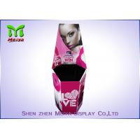 Best Cmyk Corrugated Paper Cosmetic Display Stand / Dump Bins Retail For Make Up Shops wholesale