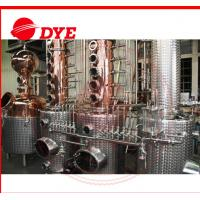 Best 200L - 5000L Copper Distiller Apparatus , Whiskey Distillation Equipment wholesale
