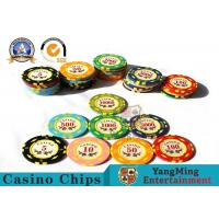 Best 11.8g Colorful Casino Poker Chips And Cards / Custom Plaque Stickers wholesale