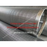Best 251mm Stainless Steel Wedge Johnson Wire Screen Tube , Water Well Slot Pipe wholesale