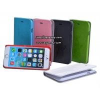 """Best New arrival 4.7"""" Iphone6 mobile phone case, leather case with 6 different colors wholesale"""