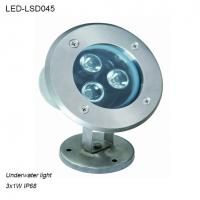 Cheap Stainless steel 3W IP68 waterproof LED Underwater light in pool used for sale
