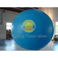 Best Blue Inflatable Advertising Balloon Filled Helium Gas with 0.18mm PVC for Outdoor Advertising wholesale