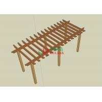 Best 8m * 4m * 2.5m Beautiful Wood Plastic Composite Pergola Split Resistance Antisepsis wholesale
