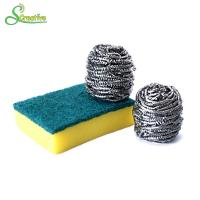 Best 10g To 60g Spiral Stainless Steel Pan Scrubbers Ball For Cleaning Stain No Hurt wholesale